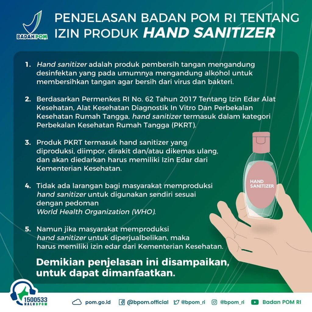ijin edar hand sanitizer